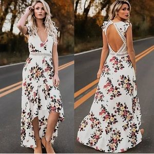 Dresses & Skirts - Chelsea Cotton Floral Open Back Dress